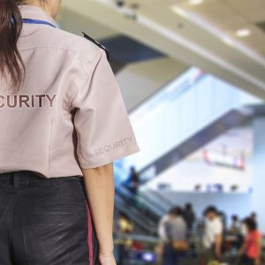Female Security Guard at Work